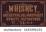 vintage decorative typeface.... | Shutterstock .eps vector #1653396151
