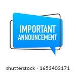 important announcement written... | Shutterstock .eps vector #1653403171
