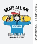 skate all day slogan text with... | Shutterstock .eps vector #1653409417