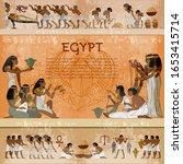 ancient egypt frame.... | Shutterstock .eps vector #1653415714