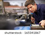 factory engineer operating... | Shutterstock . vector #165341867