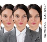 group of business women clones... | Shutterstock . vector #165342167