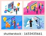 online education concept in... | Shutterstock .eps vector #1653435661