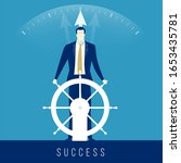 leader. businessman drives... | Shutterstock .eps vector #1653435781