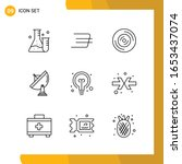 9 icon set. line style icon...   Shutterstock .eps vector #1653437074