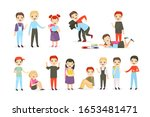 school bullying flat vector...   Shutterstock .eps vector #1653481471