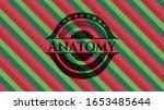 anatomy christmas colors emblem.... | Shutterstock .eps vector #1653485644