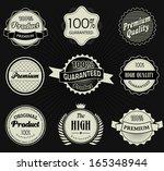 set of retro vintage labels.... | Shutterstock . vector #165348944