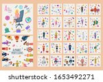 colorful alphabet of... | Shutterstock .eps vector #1653492271
