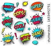comic colored speech bubbles... | Shutterstock .eps vector #1653492751