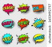 comic colored speech bubbles... | Shutterstock .eps vector #1653492757