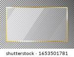 glass plate in golden frame on... | Shutterstock .eps vector #1653501781