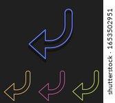 left turn arrow icons. simple...