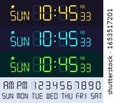 alarm clock lcd display font....   Shutterstock .eps vector #1653517201