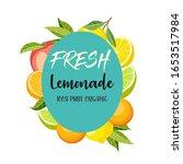 fresh lemonade label poster... | Shutterstock .eps vector #1653517984
