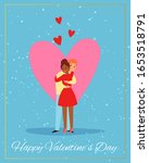valentines day couple  love... | Shutterstock .eps vector #1653518791