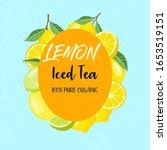 lemon iced tea label poster... | Shutterstock .eps vector #1653519151