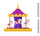 Merry Go Round. Carousel With...
