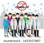covid 19 prevention. doctor...   Shutterstock .eps vector #1653527887