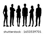 vector silhouettes of  men and... | Shutterstock .eps vector #1653539701