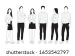 vector silhouettes of  men and... | Shutterstock .eps vector #1653542797