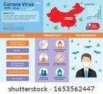 corona virus 2020 info graphic. ... | Shutterstock .eps vector #1653562447