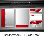 corporate identity kit or... | Shutterstock . vector #165358259