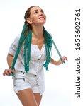 beautiful european girl with...   Shutterstock . vector #1653602761