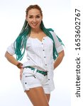 beautiful european girl with...   Shutterstock . vector #1653602767