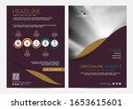 brochure or flyer layout...   Shutterstock .eps vector #1653615601