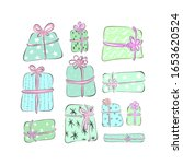 set of gift boxes of different... | Shutterstock .eps vector #1653620524