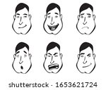 emotions vector. the emotions... | Shutterstock .eps vector #1653621724