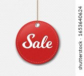 red paper sale label with rore... | Shutterstock .eps vector #1653640624