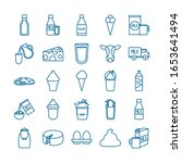 dairy line style icon set...   Shutterstock .eps vector #1653641494