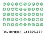 silhouette block style icon set ... | Shutterstock .eps vector #1653641884