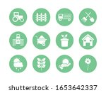 silhouette block style icon set ... | Shutterstock .eps vector #1653642337