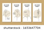 set of flyers with continuous... | Shutterstock .eps vector #1653647704
