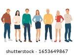 set of men and women  different ... | Shutterstock .eps vector #1653649867