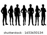 vector silhouettes of  men and... | Shutterstock .eps vector #1653650134