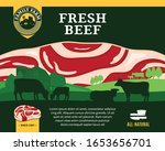 beef illustration with rural... | Shutterstock .eps vector #1653656701