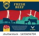vector fresh beef illustration... | Shutterstock .eps vector #1653656704
