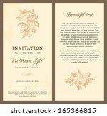 set of vintage vector vertical... | Shutterstock .eps vector #165366815