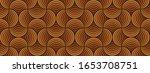 seamless orange brown retro 70s ... | Shutterstock .eps vector #1653708751