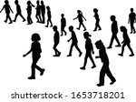 children walking bodies ... | Shutterstock .eps vector #1653718201
