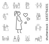 pregnant  woman icon. family... | Shutterstock .eps vector #1653756331