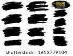vector black paint  ink brush... | Shutterstock .eps vector #1653779104