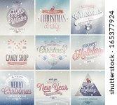 christmas set   labels  emblems ... | Shutterstock .eps vector #165377924