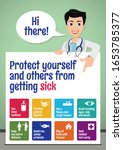 protect yourself and others... | Shutterstock .eps vector #1653785377