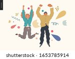happy business employee man and ... | Shutterstock .eps vector #1653785914
