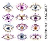 eye of providence. evil eyes ... | Shutterstock .eps vector #1653790837